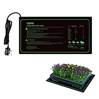 aokur Seedling Heat Mat Propagator Heater, Hydroponic Seed Reptile Plant Starter Warmer with Power-Off Protection Safe and Durable 25*50cm CE Certified