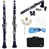 Lade Clarinete Bb 17 Teclas De Color Púrpura