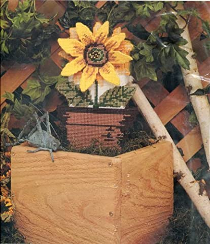 Golden Bee Plastic Canvas Sunflower Brick Cover Needlepoint Kit by