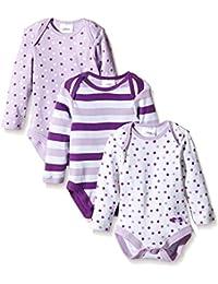Twins Baby - Mädchen Langarm-Body im 3er Pack