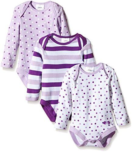 Twins Baby - Mädchen Langarm-Body im 3er Pack Gr. 56