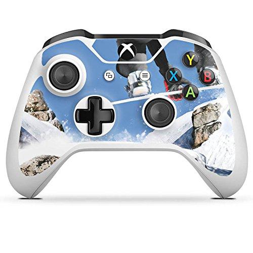 DeinDesign Microsoft Xbox One S Folie Skin Sticker aus Vinyl-Folie Aufkleber Snowboard Sprung Wintersport