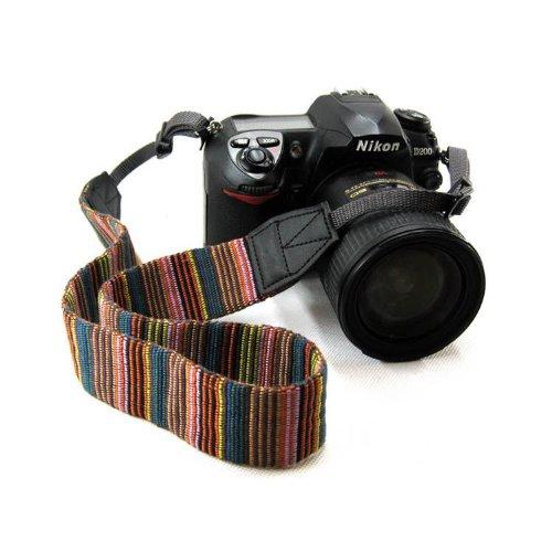 Beiuns universal weiche Farbstreifen Kameragurt Trageriemen Kamera Gurt Schulter Strap Belt Tragegurt Schultergurt Neck Gürtel für Einzel DSLR SLR Camera von Leica NIKON Sony Canon Olympus Pentax usw.