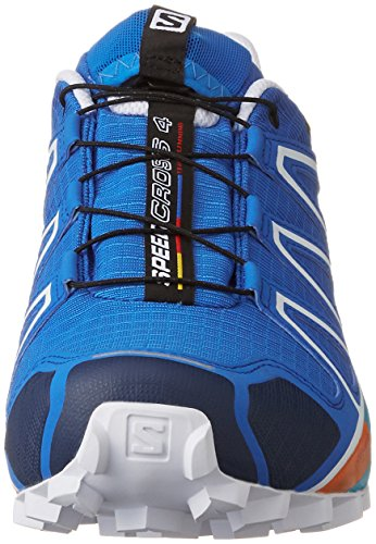 Salomon Speedcross 4, Chaussures de Trail Homme Bleu (Bright Blue/Black/White)