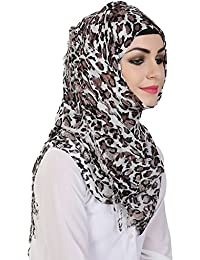 Momin Libas Women's Fancy Viscose Printed Hijab and Scarf(HVC46717, Purple)