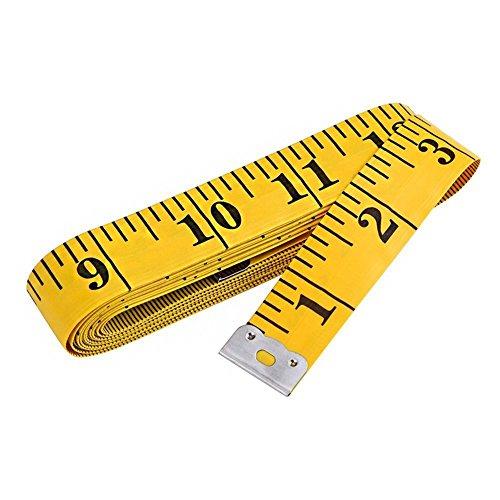 Scrox Körper Messband Doppelseitiges Klebebandmaß,Maßband zum Nähen,Weichplastik Maßband für Nähen Schneider Tuch Lineal 120Inch / 300cm (Tuch Maßband 120)