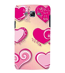 printtech Love Heart Abstract Back Case Cover for Samsung Galaxy J7 (2016 EDITION)