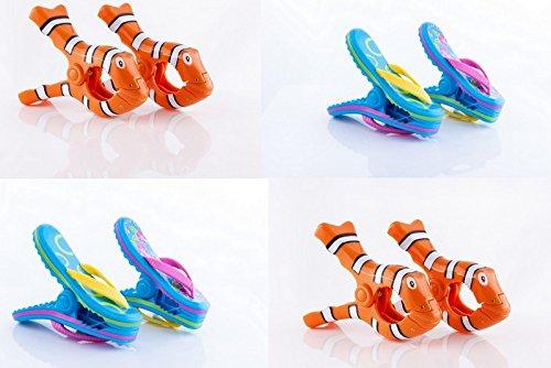 Strand 'twel Clips 'Boca–4Paar–2Paar Clown Fisch & 2Paar Flip Flops
