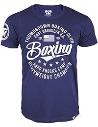 Boxing T-shirt. Thumbs Down Boxing Club. East Brooklyn US. Hard Knocks Camp. Heavyweight Champion. Boxen Martial Arts. MMA T-shirt