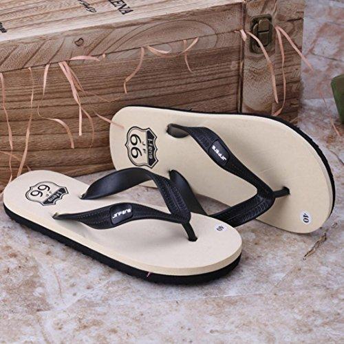 Herren Flip-Flops, SHOBDW Männer Sommer Schuhe Sandalen Herren Pantoffel Indoor oder Outdoor Flip Flops Schwarz