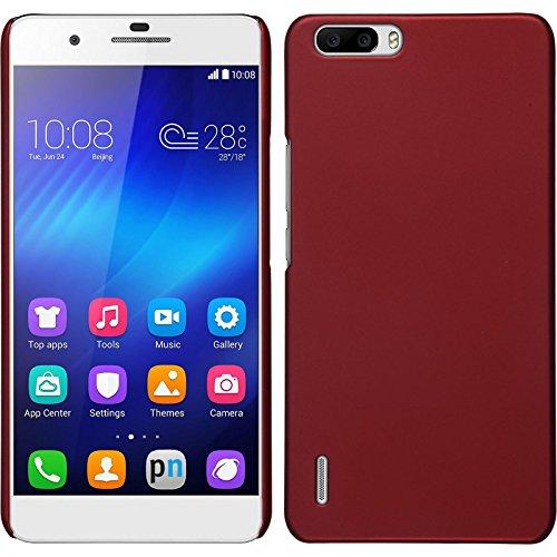 PhoneNatic Case für Huawei Honor 6 Plus Hülle rot gummiert Hard-case für Honor 6 Plus + 2 Schutzfolien