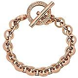 Tamaris Jewelry Lisa Armband Edelstahl rosévergoldet mit Zirkonia 21 cm A00432010