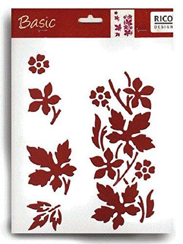 Schablone weiß 30x22cm: Blatt Ahorn (Ahorn-blätter-schablone)