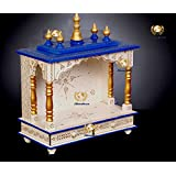 Kamdhenu art and craft Wooden Home Temple Mandap with Rajasthani Hand Painting Work (Multicolour, Standard Size)