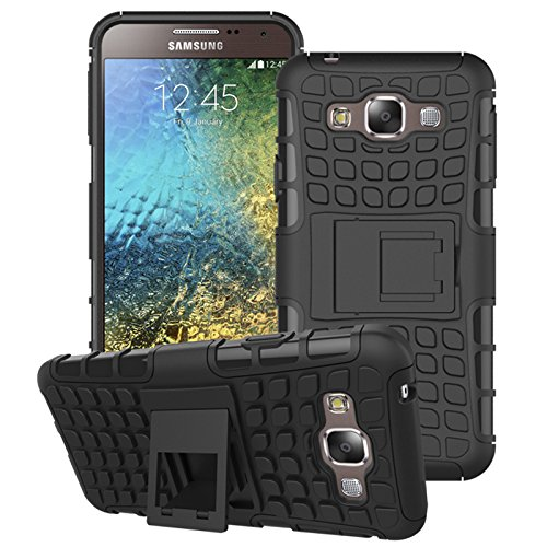 Samsung Galaxy E5 Hülle Schwarz,Samsung Galaxy E5 Hülle Flip Case,Samsung Galaxy E5 Hülle Silikon,EMAXELERS Samsung Galaxy E5 Hülle TPU,Galaxy E5 Hülle Hart,Galaxy E5 Hülle Slim Protective schutz Design Secure sicher Non-Slip Grip griff einzigartige Unique Hybrid weich Soft & Hard Shockproof Protection Hülle Cover for Samsung Galaxy E5,Black Tire Pattern