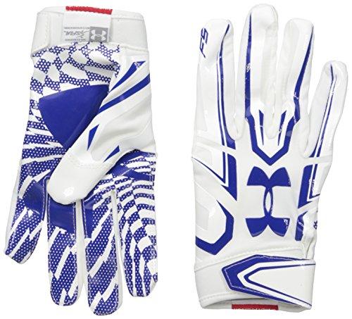 Under Armour American Football Receiver Handschuh F5 , weiß-royal M