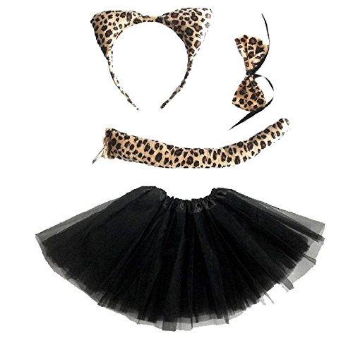 Kinder Engel Fee Feder Flügel Halo Halloween Kostüm Katze Leopard Outfit Party von Lizzy®
