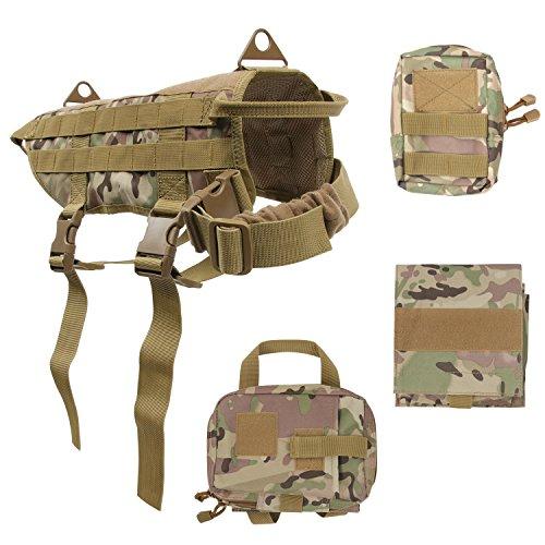 Conysan die Weste für Kampfhund wie Border-Collie, Gold Retriever, Schäferhund usw. Große Hunde. verdickter Camouflage-Burstgurt -