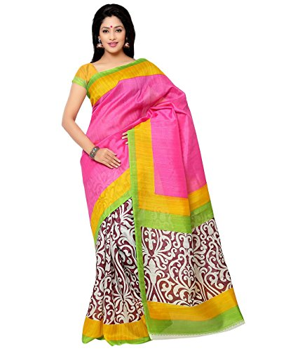 Shayona Creation Women's Bhagalpuri Saree With Blose Piece
