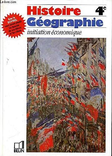 Histoire-géographie, initiation économique, 4e