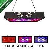 1500W 2 COB LED Pflanzenlampe Gemüse- Und Obstpflanze Innenpflanzlicht Ergänzung Neuer Doppel-Drehknopf Zur Verdunkelung Von Vollspektrumpflanzenlicht
