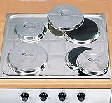 Kosma Set de 4 Couvercle de Protection pour Couvercle de Hob en Acier Inoxydable, Taille - 16cm et 21cm avec Couvercle de Brûleur et Cuisinière - 2 Petits et 2 Grands