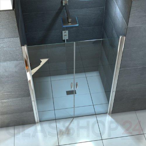 Hochwertige Design Mattglas-Duschabtrennung / Nischendusche mit Lotuseffekt | 90 x 195 cm - 3