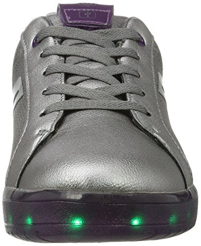 Geox J Kommodor A, Sneakers Basses Mixte Adulte Argent (Dk Silver/prune)