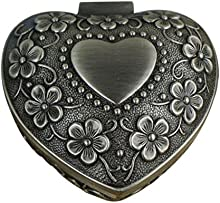 Infinite U Lujoso Estilo Retro Mujer Pequeña Baratija Cajas para joyas Joyero-5 Opciones Antiguo Plateado Regalo para San Valentín