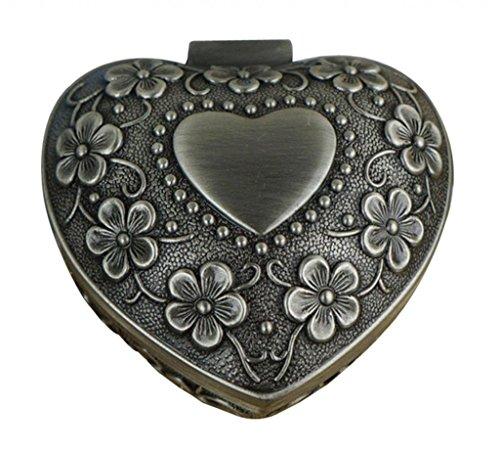 Reinigung Modeschmuck (Unendlich U Luxus Schmuckkästchen Retro Style Antique Herz-Form und Leaf Clover mit klein schmuckkasten für Damen,Reines)