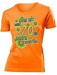 Karnevalskostüm - Faschingskostüm - Halloween - Das ist mein 70er Jahre kostüm T-Shirt Damen S-XXL - Deluxe