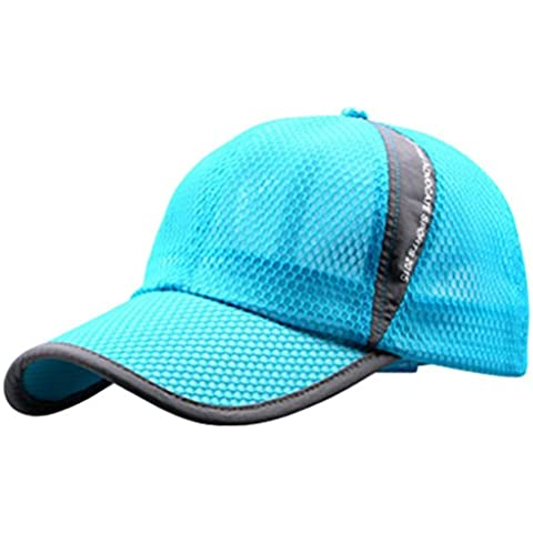 G7Explorer Mesh Speed Drying Breathable Running Cap Only 2.3 Ounces (Sky Blue)