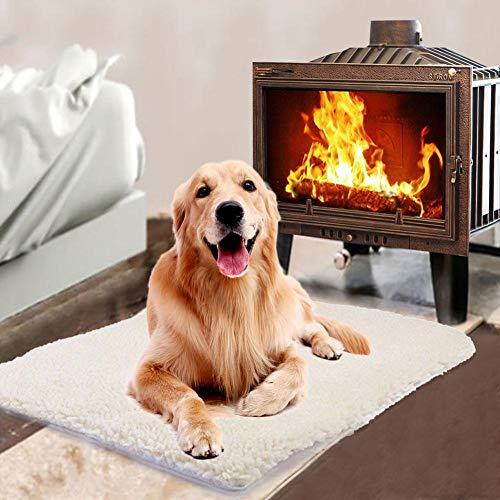 Xiangpian183 Heizdecke für Haustiere, selbstwärend, ideal für Katzen, Hunde, Welpen, Thermo-Isomatte, Bett weich und kuschelig