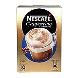 Nescafe | Instantkaffee | Cappuccino entkoffeiniert | 10 Sticks pro Packung 125 g/4,41 oz