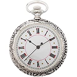 1St. Bulily Men Pocket watch silver AP-OTA-047