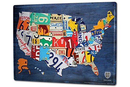 LEotiE SINCE 2004 Blechschild XXL Abenteurer USA Nummernschilder