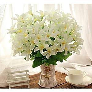 jhxena Kit de Flores Artificiales Falso Estilo jardín de Flores Arte Floral decoración de la Mesa Azucena