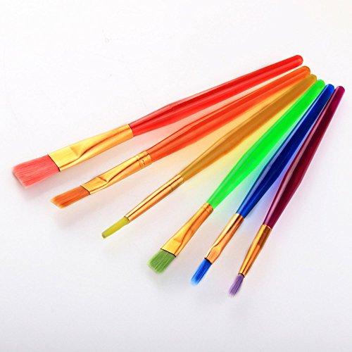 Stift Malen 6 Sätze von Kinder Pinsel Candy Farbe Kunststoff Stab Aquarell Kunst liefert Bunte Stifte (Farbe : Blau)