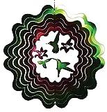 stealstreet Antistatikspray 30,5cm Flying Kolibris mit Blumen Zephyr Spirale Wind Spinner