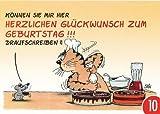 10-er Packung: Postkarte CARTOON von modern times +++ HERZLICHEN GLÜCKWUNSCH ZUM GEBURTSTAG +++ GK KONZEPT & HANDELS GMBH  STEIN, Uli