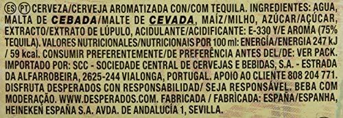 Desperados Beer - 4 Packs of 6 Bottles x 250 ml - Total: 6 L