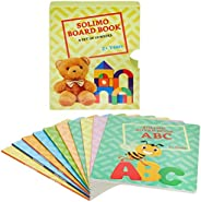 Amazon Brand - Solimo Long Board Book, Set of 10 (Alphabets, Fruits, Numbers, Vegetables, Words, Animals, Bird