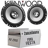 Lautsprecher Boxen Kenwood KFC-S1756-16cm Koax Auto Einbauzubehör - Einbauset für Ford Fiesta MK7 Front Heck - JUST SOUND best choice for caraudio