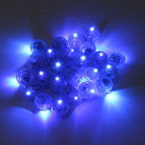 Tutoy 25Pcs 1.7cm Runde LED-Ballon-Licht-Lampe Glühende Ballon-Lichter-Geburtstags-Hochzeits-Party-Dekoration (Kostüm Ballon Grüne)