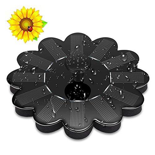 navigatee Solar-Springbrunnen des Gartens Miniaturschwimmbrunnens Solarwasserbrunnenpumpe im Freienaufhängung
