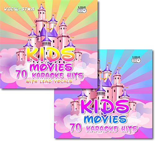 es Karaoke Disc set 6 CDG CD+G Discs Including 140 Songs ( 70 With Lead Vocals ) From Popular Disney Films ()