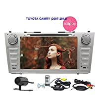 Eincar 8'Car Stereo for TOYOTA CAMRY (2007-2012) in Dash 1.6G CPU 16G ROM Quad-core Lollipop DVD Player Headunit Android 5.1.1 system 3D GPS Navigation Dual-zone Wireless Reverse Camera with 800*480 Touch Screen 3G/4G Wifi USB Aux