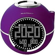 Naf Naf CLOCKINEPL - Despertador con radio digital FM PLL, proyector y con sonidos de la naturaleza