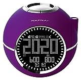 NAFNAF Clockine Radiowecker mit Projektion, lila DNI013
