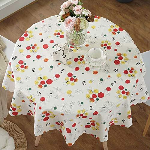 WY- tablecloth Tischdecke wasserdicht Runde Tischdecke Haushalt Tischdecke Durchmesser 130cm geeignet für 80-110cm Durchmesser Runden Tisch
